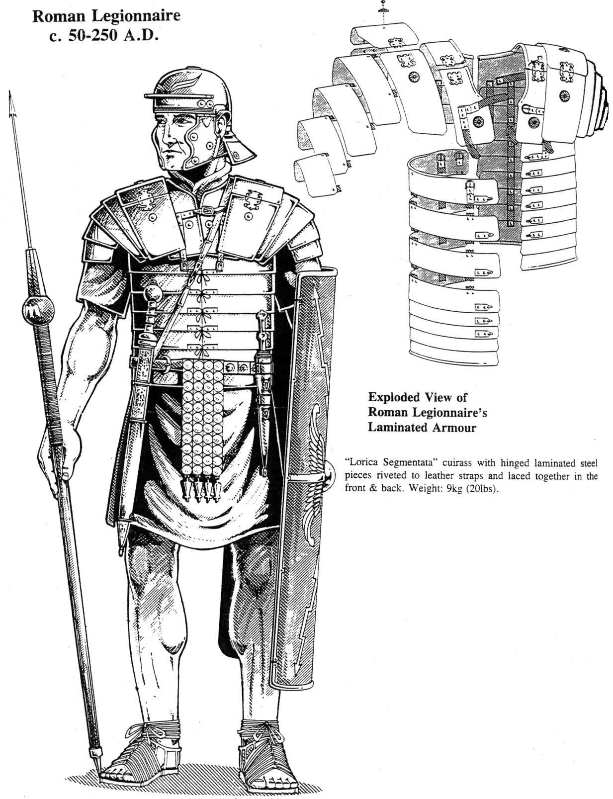 This is an image of Bewitching Roman Soldier Uniform Labelled